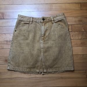 Guess Los Angeles | UO Gold Denim Mini Skirt NWT
